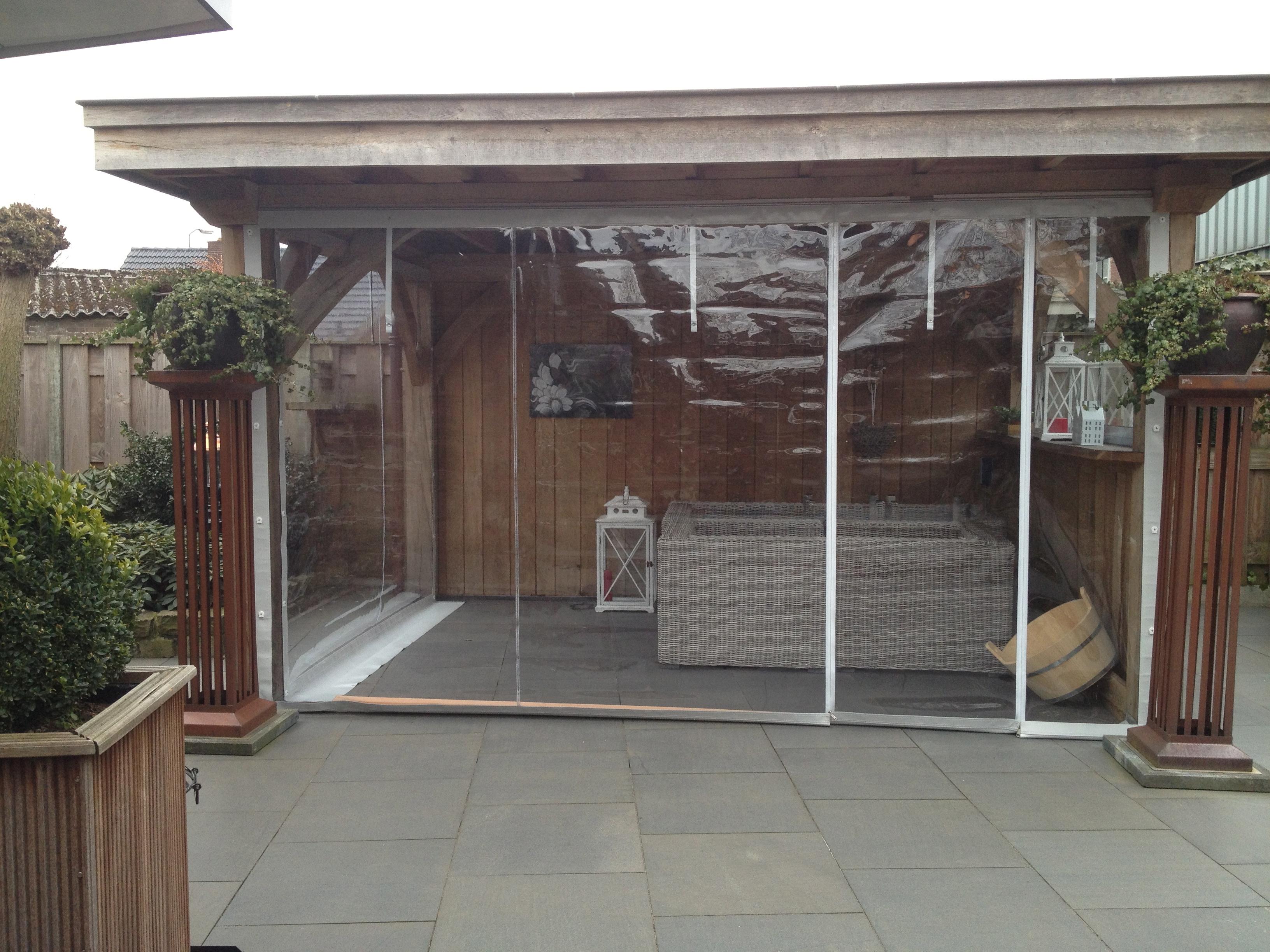 Raamzeil veranda – Halve parasol