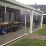 Verandazeil geplaatst bij terrasoverkapping